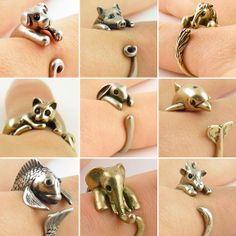 Love animals? So do we! We're obsessed with these Keja animal wrap rings. Available for a limited time in over 20 different styles! Head over to www.LeLePets.com right now! #StPaddysDay #animallovers