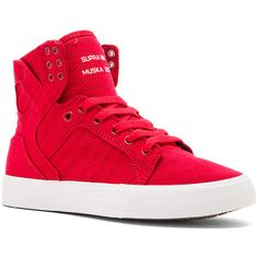 Supra Skytop Sneaker Shoes ($90) ❤ liked on Polyvore featuring shoes, sneakers, lace up shoes, rubber sole shoes, laced sneakers, supra shoes and lace up sneakers