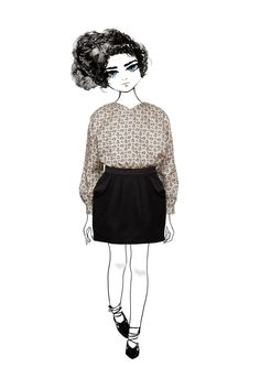 Heather Skirt from the Pale Cloud Autumn Winter 2015 Collection