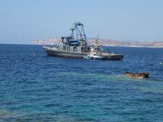 P29 Patrol Boat before sinking