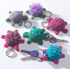 Animal crochet key ring