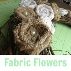 How To: Make Fabric Flowers {LifeWithTheLadniers}