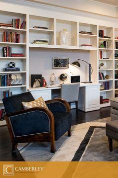 Shelf desk cool bookshelves, built in bookcase, desk with bookshelf, built Home Library Design, Home Office Design, Home Office Decor, Home Decor, Office Style, Office Ideas, Office Furniture, Cool Bookshelves, Desk Shelves