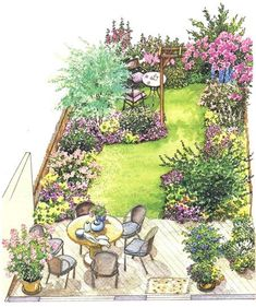 concepts backyard landscaping small fence for 2019 landscaping S . concepts backyard landscaping small fence for 2019 landscaping S . Small Garden Plans, Garden Design Plans, Home Garden Design, Small Garden Design, House Design, Small Garden Layout, Patio Layout, Yard Design, Garden Landscape Design