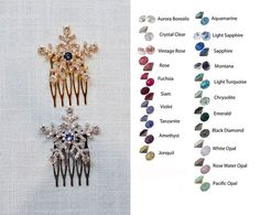 Choose Your Accent Colour  Handmade Crystal Rhinestone