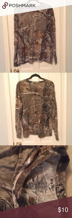 Camouflage Long Sleeve Frocket Long sleeve camouflaged Frocket. Very comfy and only warn once Tops Tees - Long Sleeve