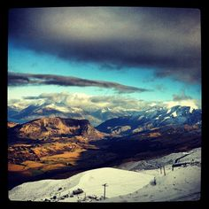 The view from the base   #queenstown#coronetpeak#snow#winter#newzealand#otago#officeview