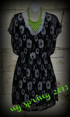 Floral print dress. Great transition piece with leggings!! Easy to dress up with jewelry or scarves.