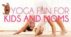 Yoga Fun For Kids And Moms Mom And Baby Yoga, Yoga For Kids, Exercise For Kids, Fun Poses, Yoga Poses, Family Yoga, Mom Body, Yoga Fitness, Kids Fitness