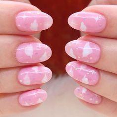 Stylish Nails, Trendy Nails, Cute Nails, Rounded Acrylic Nails, Pink Acrylic Nails, Pink Acrylics, Pastel Nails, Nails For Kids, Girls Nails