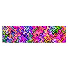 Swirly Twirly Colors Satin Scarf (Oblong)