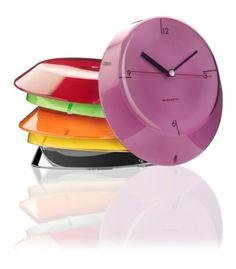 Casa Bugatti Glamour zegary ścienne, kolorowe zagary, kolorowa nowoczesna kuchnia, akcesoria wyposażenie wnętrz