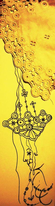 dekorativní kresba podle krajky