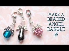 Make a beaded angel charm - jewelry making