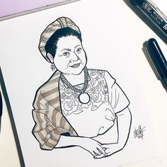 #inktober Day 10: Rigoberta Menchu  She is a Guatemalan Indian-rights activist and spokesperson. She received the Nobel Peace Prize in 1992 in recognition of her work for Indian rights and ethno-cultural reconciliation not only in Guatemala but in the Western Hemisphere generally. Menchú has also been a vocal opponent of the effects of globalization or the increasing dominance of multinational corporations in the world's economy. She has also become a figure in indigenous political parties… Effects Of Globalization, Nobel Peace Prize, Running For President, Wonder Women, Political Party, Women In History, Inktober, Doll, Culture