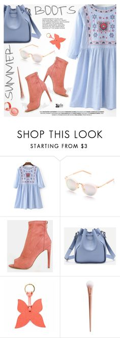"""""""Walk This Way: Summer Booties"""" by pokadoll ❤ liked on Polyvore featuring La Portegna and Hedi Slimane"""