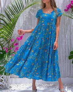 Cheap Dresses, Casual Dresses, Dresses For Sale, Summer Dresses, Floral Dresses, Dresses Dresses, Holiday Dresses, Mode Outfits, Fashion Outfits