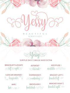 Yessy Font Dafont Com Dafont Fonts Cricut Fonts Fancy Fonts