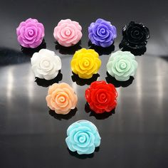 Hot sale Fashion NS0246 10pcs mixed 18mm Flowers ginger snap buttons fit DIY…