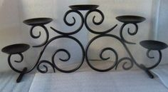 PartyLite Hearthside Wrought Iron Candle Holder