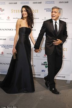 So in love! Earlier in the month George and Amal attended their first public event together at theCelebrity Fight Night in Florence