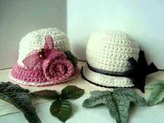 How to Crochet a Brimmed Flower Hat Part 1 Crochet Beanie Hat, Crochet Cap, Crochet Baby Booties, Love Crochet, Crochet For Kids, Loom Knitting, Knitting Patterns, Crochet Patterns, Crochet Hat Tutorial