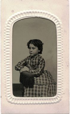 Civil War Era Tintype Photo Portrait of A Charming Little Girl Utica NY Studio | eBay