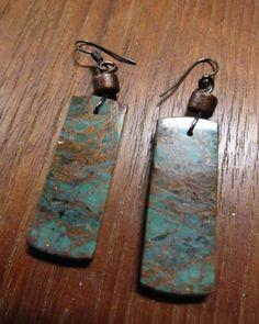 EMERALD JASPER  Earthy Wearable Art Earrings by SusanHeleneDesigns, $45.00