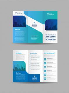 Business trifold brochure template. Download this vector at freepik.com now! #Freepik #vector #template #brochures #flyer Brochure Cover Design, Graphic Design Brochure, Travel Brochure Template, Brochure Design Inspiration, Leaflet Design, Booklet Design, Flyer, Business Brochure, Leaflets