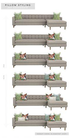 How To Decorate Oblong Living Room Pot Shelf Decorating Ideas Pillows 101: Choose & Arrange Throw ...