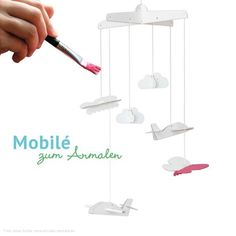 bibabox Mobilé zum Bemalen - Mobiles - Babyspielzeug - Baby