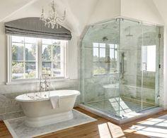 French Country Bathroom Designs Ideas 4 - Home DIY Idea Rustic Bathrooms, Dream Bathrooms, Beautiful Bathrooms, French Country Bathroom Ideas, French Bathroom Decor, Modern Bathroom Design, Bathroom Interior Design, Bathroom Designs, Bad Inspiration