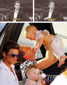 Neil Patrick Harris and his family <3<3