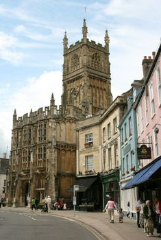My favourite Cotswold town - Cirencester in Gloucestershire. This is the iconic high street and Market Place. John the Baptist Church dates from but Cirencester is far older than that, founded by the Romans when it was called Corinium. England Ireland, London England, Great Places, Places To See, Places In England, John The Baptist, English Countryside, Kirchen, British Isles