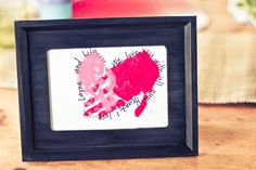 Handprint heart - super cute valentine's day craft idea!