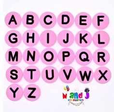 Alphabet Letters PVC Shoe Charms, A to Z Pink/Black Circle Letters, Bracelet Charms, Party Favor, Fits Crocs 2 Aesthetic Letters, Aesthetic Stickers, Alphabet Crafts, Alphabet Letters, Letter Tracing, Pop Stickers, Printable Stickers, Korean Stickers, Alphabet Stickers