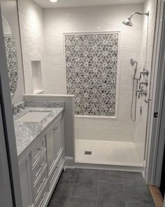 bathroom tile ideas for big and small bathroom floor & wall tiles 8 « kenebae. Bathroom Renos, Bathroom Renovations, Bathroom Flooring, Laundry In Bathroom, Bathroom Ideas, Bathroom Designs, Modern Bathroom, Master Bathroom, Shower Ideas