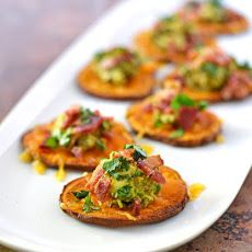 Sweet Potato Bites with Avocado and Bacon Recipe This looks wonderful! Can't wait to try it...