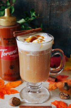 Pumpkin Pie Hot Buttered Rum - Living The Gourmet Drink Recipes Nonalcoholic, Yummy Drinks, Cocktail Recipes, Cocktails, Alcoholic Drinks, Pumpkin Recipes, Fall Recipes, Great Recipes, Hot Buttered Rum