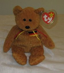PICCADILLY THE CLOWN BEAR - Ty Attic Treasures Beanie Baby ...