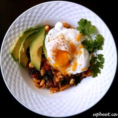 Mexican Breakfast Bowl -- a delicious way to add veggies to breakfast (or lunch)!