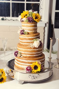 My naked wedding cake