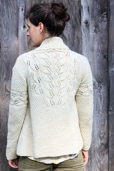 Coolidge Cardigan by Amy Christoffers ~ bottom up ~ Worsted 10ply