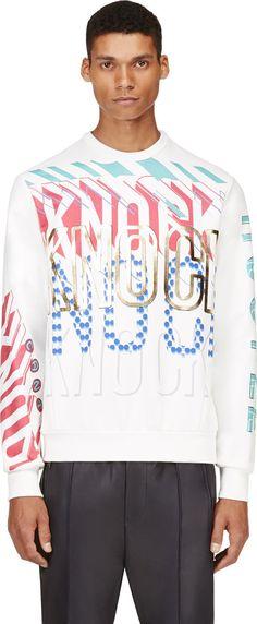#Juun.J White 'Can't Knock The Hustle' Sweatshirt