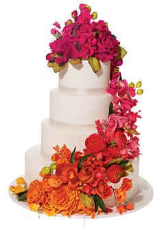 Bright Floral cake by Ron Ben-Israel Cakes