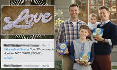 Company responds to anti-gay backlash with a message of love #DailyMail
