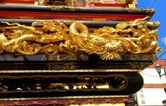 Decoration of the floats of Toyama Johana Hikiyama festival