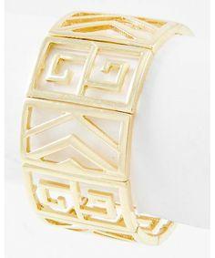 437672 Gold Tone / Lead Compliant / Metal / Stretch / Bracelet