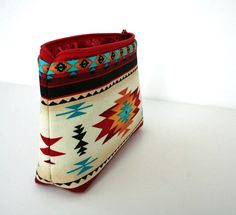 Small Makeup Bag - Southwestern - Navajo Fabric- Gadget Case. $10.00, via Etsy.