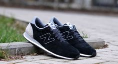U 420 PPY New Balance 420, Black And Grey, Converse, Sneakers, Shoes, Fashion, First Grade, Suede Fabric, Black